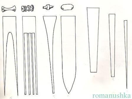 форма бусин из бумаги
