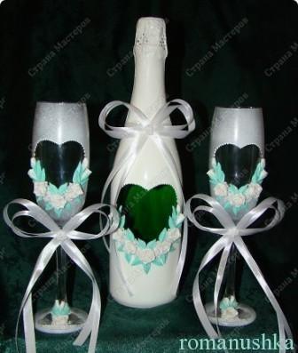 декор бутылки и бокалов