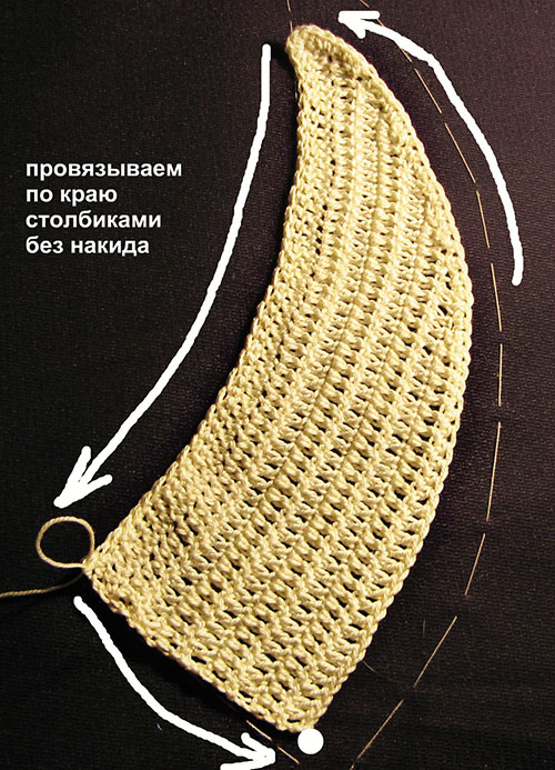 обвязка столбиками с накидом