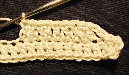 вязание второго ряда воротничка
