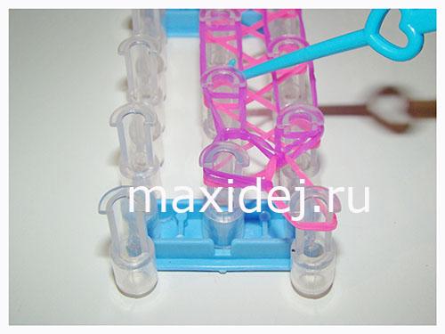 как сделать браслет из резинок шнурковый