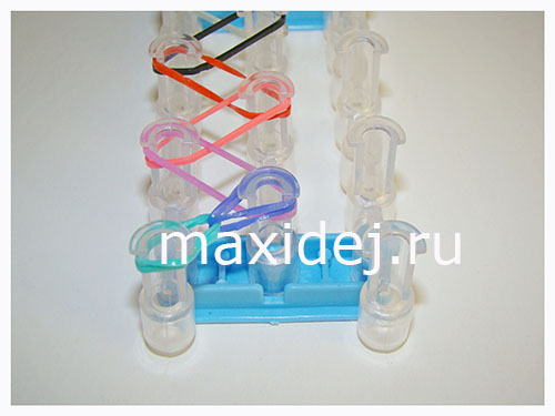 плетение из резиночек простая схема