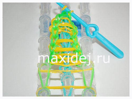 плетение браслет из резиночек