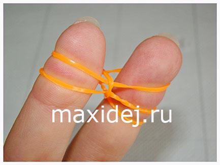 плетение рыбий хвост на пальцах