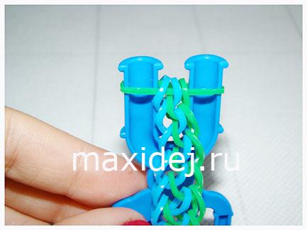как плети браслет из резинок чешуя