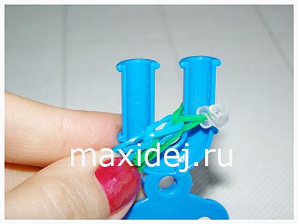 как делать браслет из резиночек
