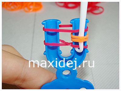 як зробити браслет з резинок