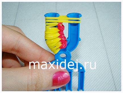 схема плетения кольца из резинок