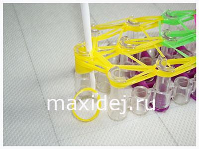 как сделать петельку из резиночки