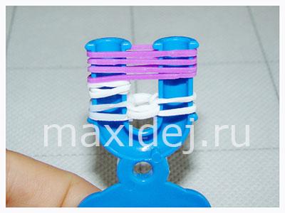пошаговая схема плетения из loom bands