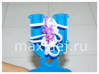 как провязывать лапки паучка из резиночек