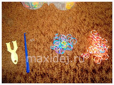 материалы для плетения rainbow loom