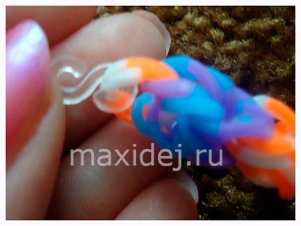 соединение браслетов из резиночек