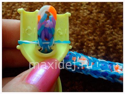 схемы плетения браслетов из резинок