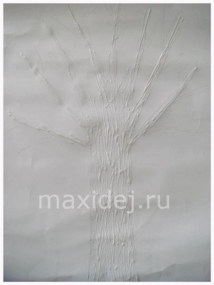 осенне дерево из бумаги своими руками