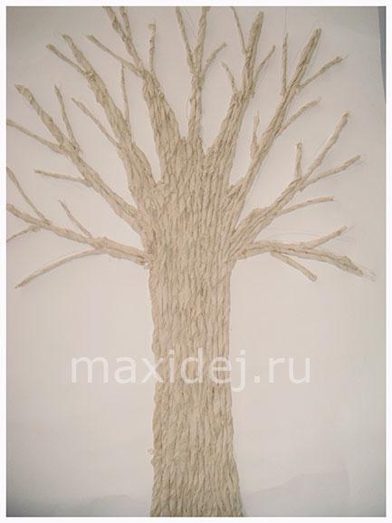 поделка осеннее дерево из бумаги своими руками