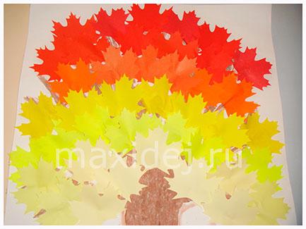 осеннее дерево аппликация из цветной бумаги