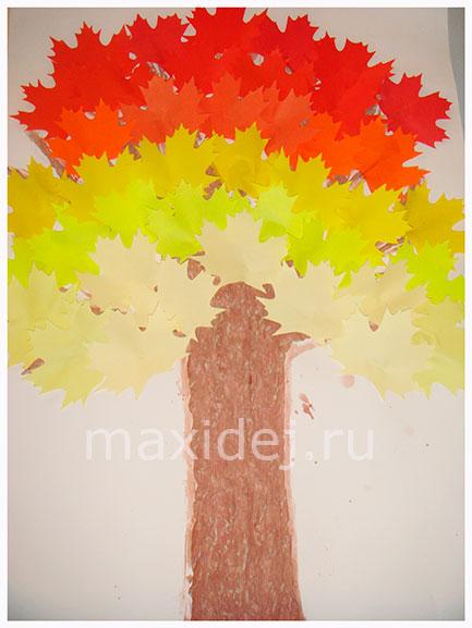 как сделать осеннее дерево из бумаги
