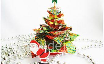 елка из фантиков от конфет