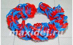 браслет из резинок спираль на рогатке