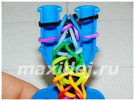 как делать браслеты из резинок спиральки