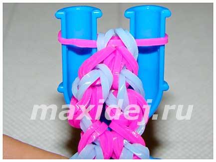 плетение из резинок браслет вайкики