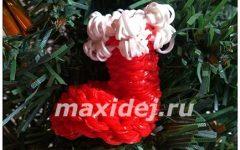 новогодний сапожок из резинок