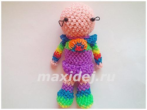 как сделать куклу из резинок