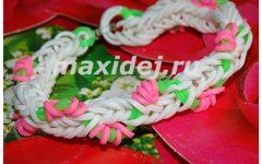 браслет из резинок цветущая лиана