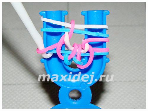схемы плетения браслетов из резинок на рогатке