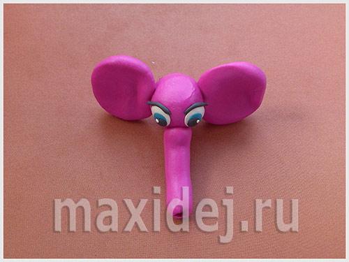 лепим слона из пластилина