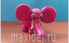 как слепить из пластилина слона