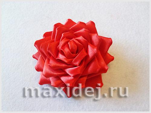 ажурная роза канзаши