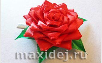 роза из ленты своими руками пошаговое фото