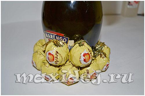 как сделать ананас из шампанского
