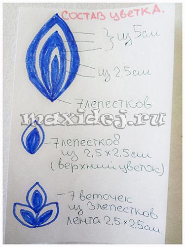 snezhinki-iz-lent-v-tekhnike-kanzashi1