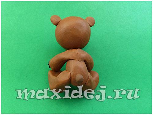 медведь из пластилина пошагово