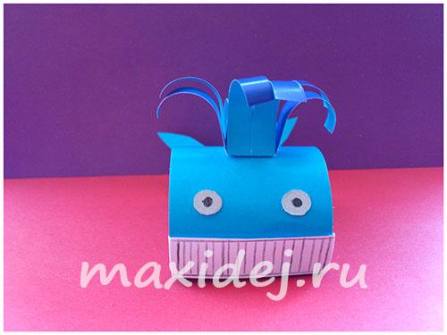 как сделать кита из бумаги оригами