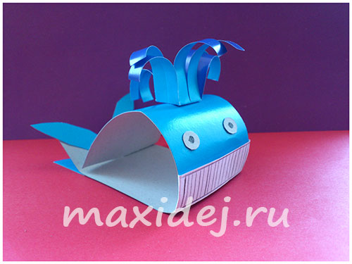 объемный кит из бумаги