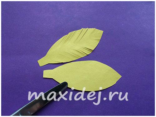 поделка цыпленок из цветной бумаги