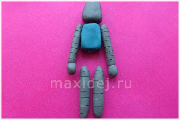 робот из пластилина для детей