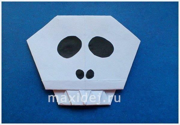 как сделать череп оригами