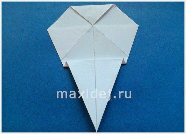 как сделать из бумаги череп