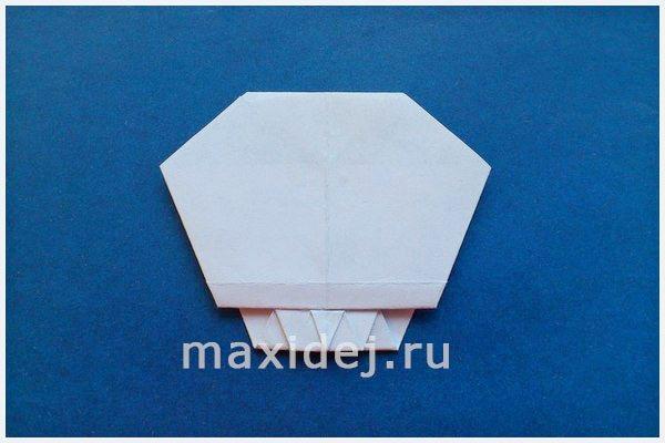 череп оригами мастер класс